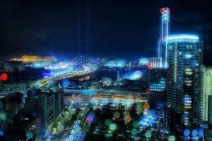 都会の美しい夜景